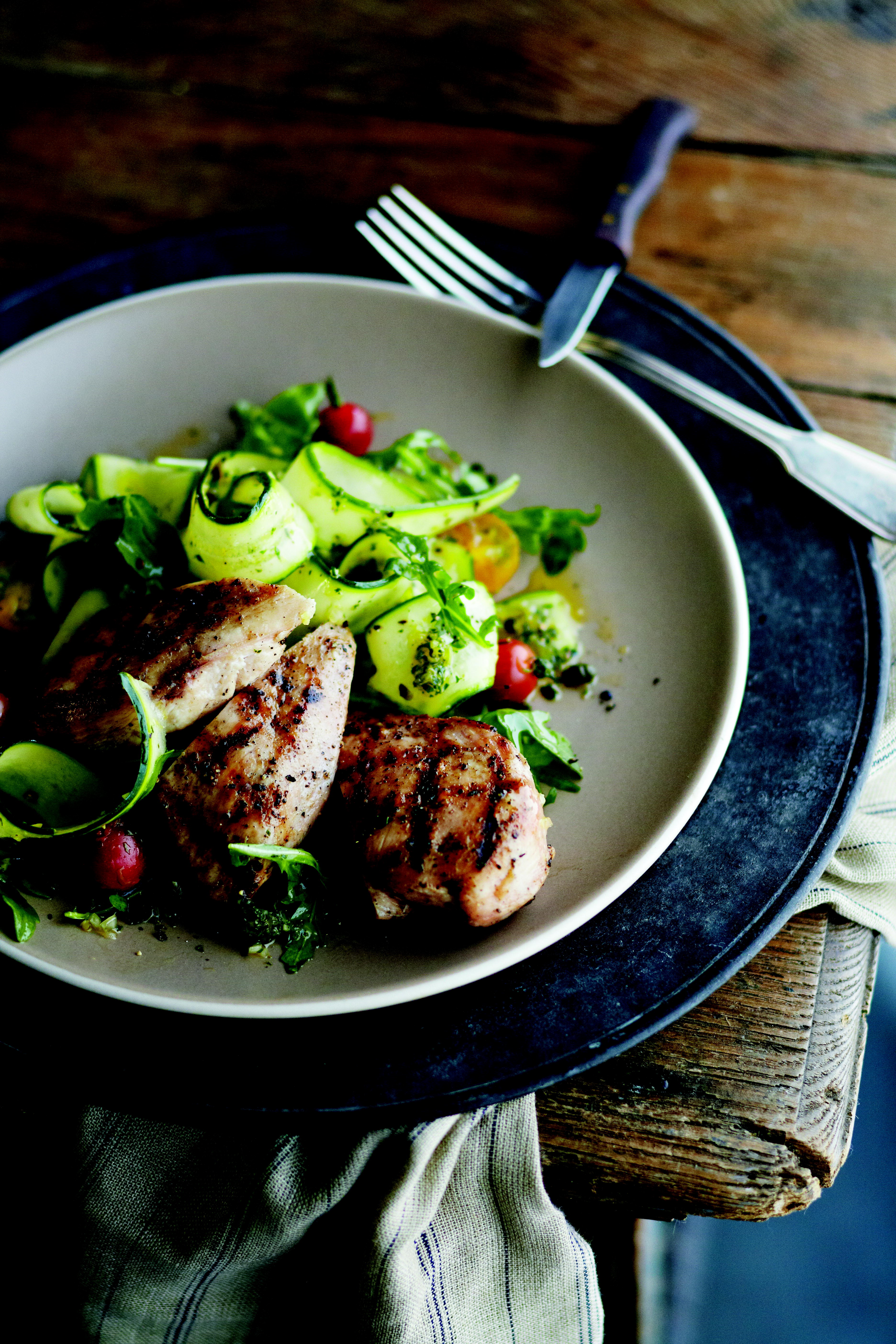 Grilled Chicken with Arugula Salad & Lemon- Caper Vinaigrette ...