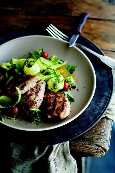 Grilled Chicken with Arugula